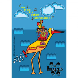 carte postale The Breatzels - Yellow Storkmarine