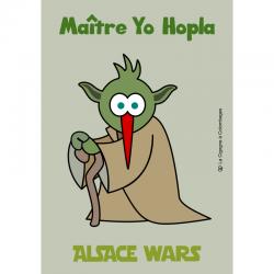 carte postale ALSACE WARS - Maître Yo Hopla