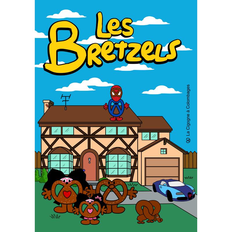 carte postale La famille Bretzels