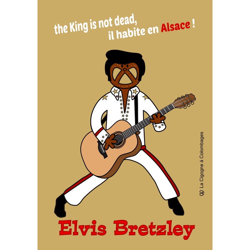 carte postale Elvis BRETZLEY