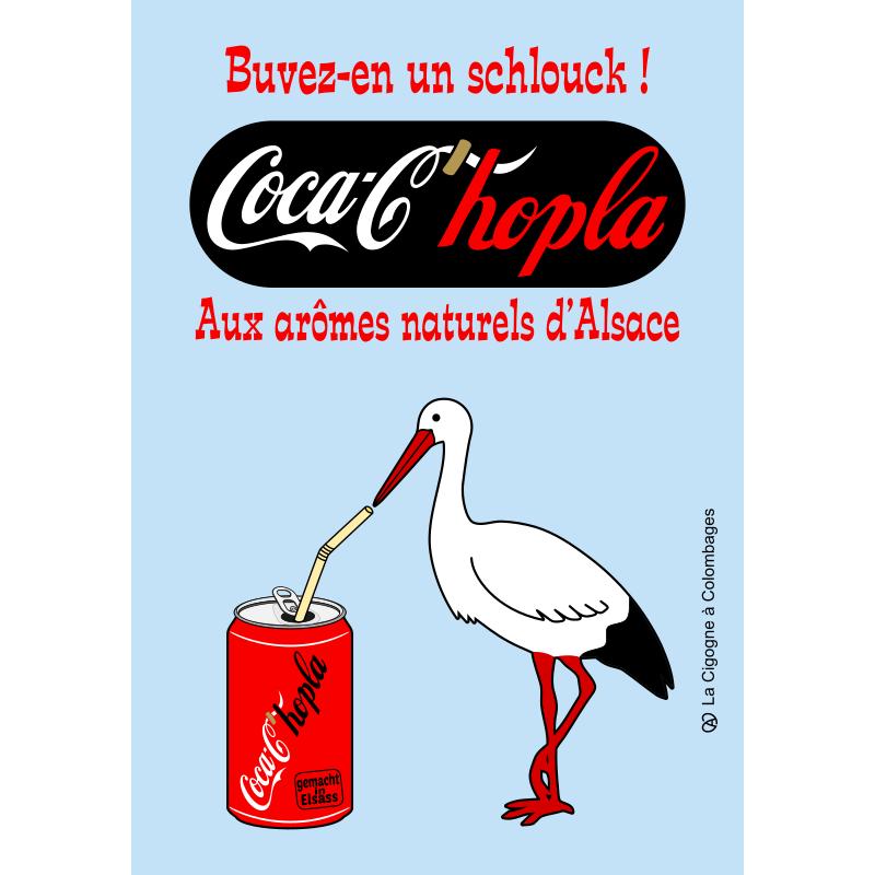 carte postale Coca-c'Hopla
