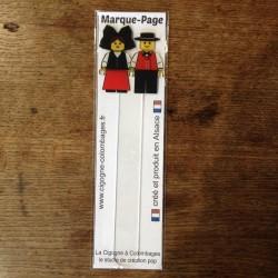 marque-page en plexiglas Couple alsacien