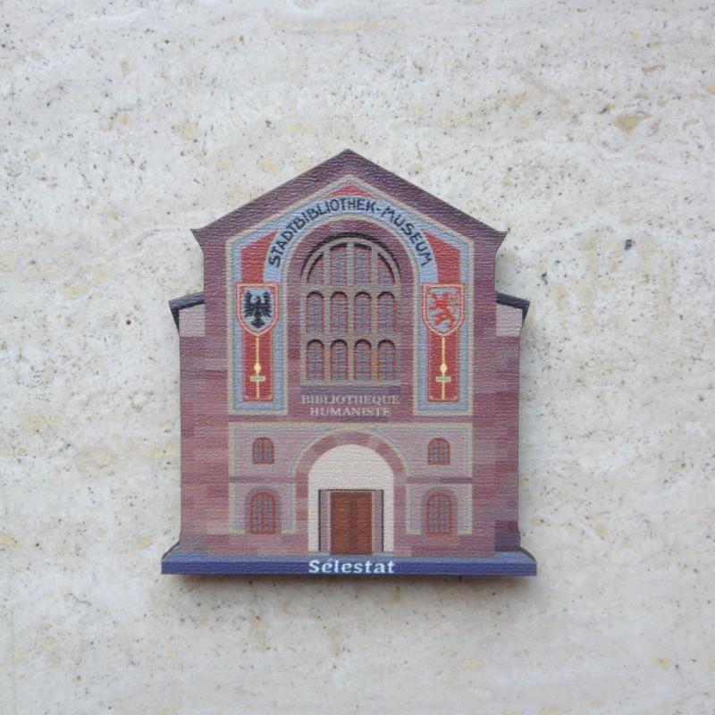 Bibliothèque Humaniste de Sélestat - magnet en bois