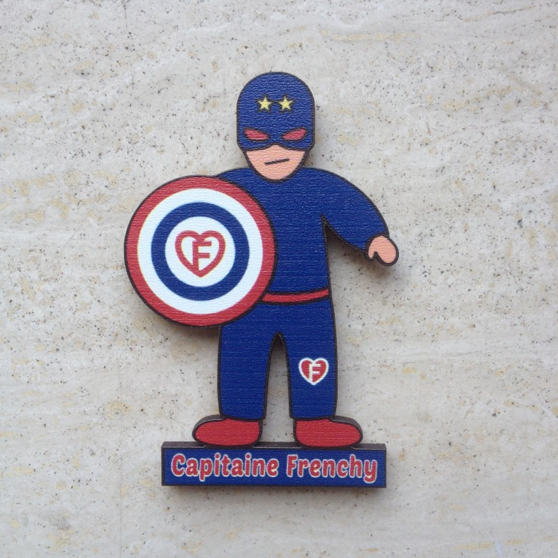 magnet Capitaine Frenchy, le super-héros made in France