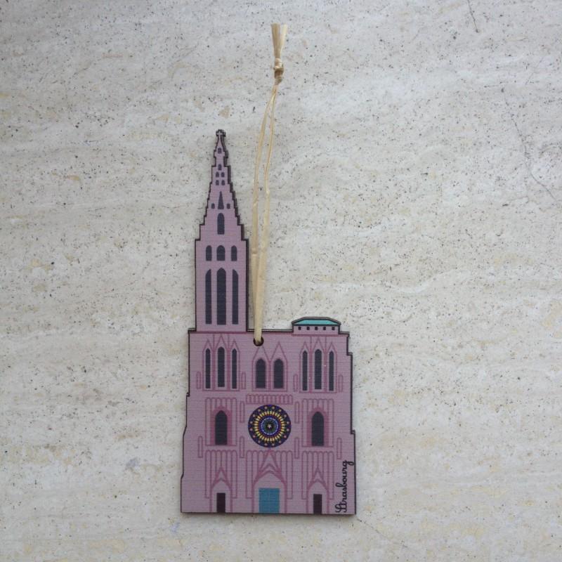 déco en bois Cathédrale de Strasbourg - made in France