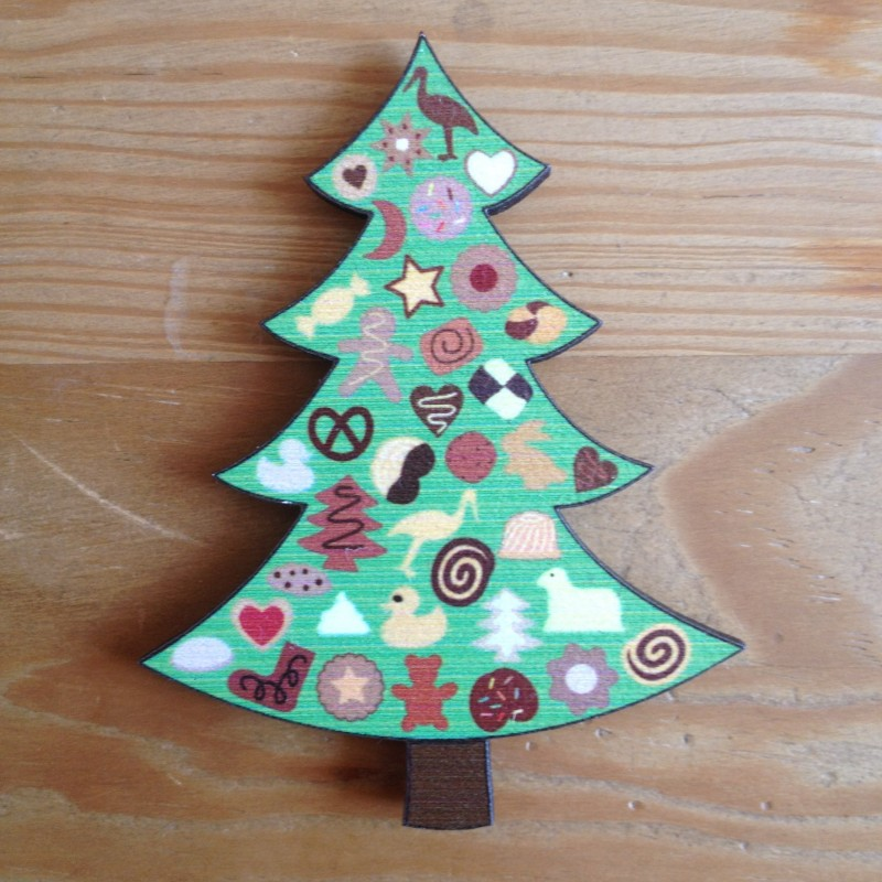 Magnet Sapin de Noël et Bredele alsaciens - Made in France (Alsace)