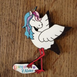Licorne alsacienne - magnet made in France