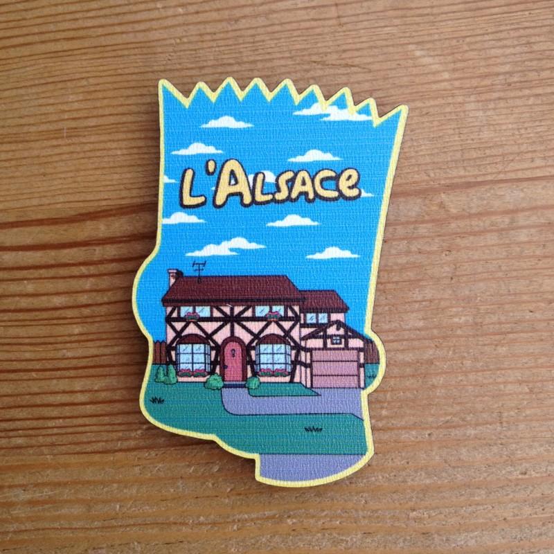 Magnet en bois La Cigogne à Colombages - made in France