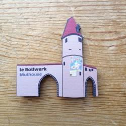 magnet en bois Bollwerk de Mulhouse