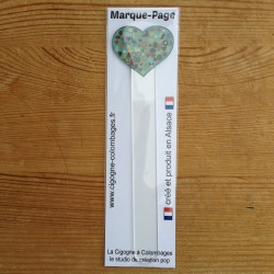 marque-page en plexiglas Coeur Bredele - made in France