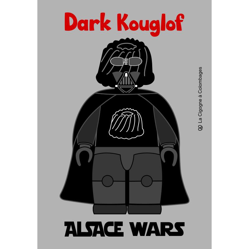carte postale ALSACE WARS - Dark Kouglof Made in France