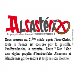 carte postale Alsace - Alsastérix - made in France