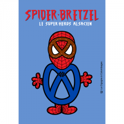 carte postale - Spider-Bretzel - made in France