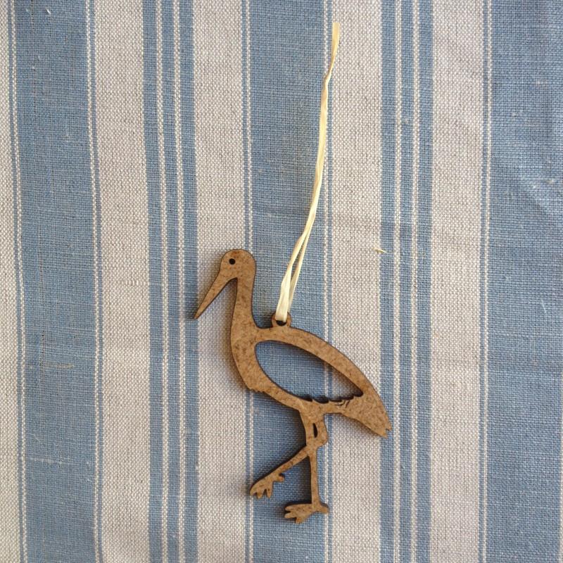 Déco alsacienne en bois, à suspendre