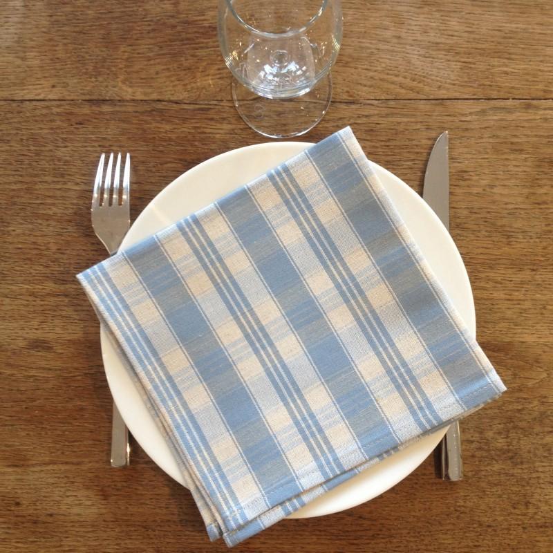 Serviette de table en Kelsch, le tissu traditionnel d'Alsace